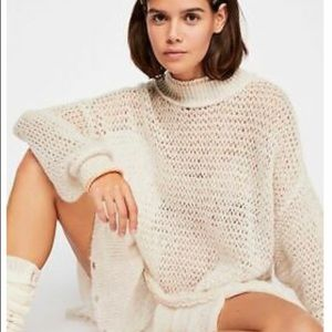 FREE PEOPLE  TUNIC SWEATER IVORY